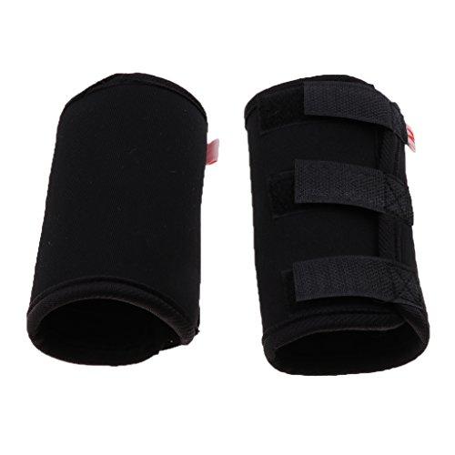 Hunde Handgelenk Bandage Kniebandage Hunde Beinschutz Gelenkschutz Ärmel, 2er-Pack - Schwarz M