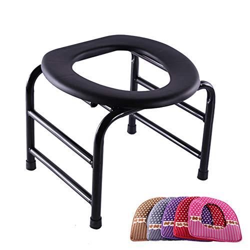 LOO LA verrijdbare wc-stoel geschikt deksel toiletstoel met ingesloten mobiliteit voor ouderen en personen