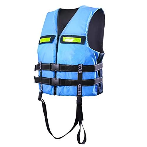 HLYT-0909 Chalecos Salvavidas para Adultos, natación, Snorkel, Kayak, Ayuda a la flotabilidad, Tabla de Remo, Flotador, Chaleco Salvavidas, Chaquetas de Seguridad para Nadar,Azul,L