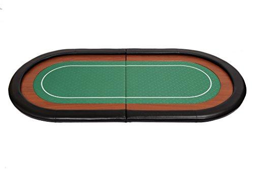Riverboat Gaming Champion faltbare Pokerauflage mit grünem wasserabweisenden Stoff und Tasche – Pokertisch 180cm - 4