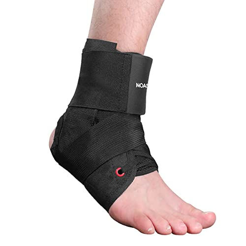 NOASAGE Ankle Brace for Women & Men, Lace Up Adjustable Breathable Ankle Support - for Running, Basketball, Volleyball, Injury Recovery, Achilles,...