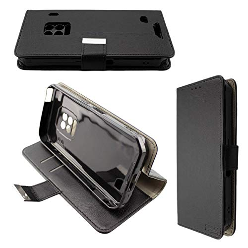 caseroxx Handy Hülle Tasche kompatibel mit Ulefone Armor 9 / Armor 9E Bookstyle-Hülle Wallet Hülle in schwarz
