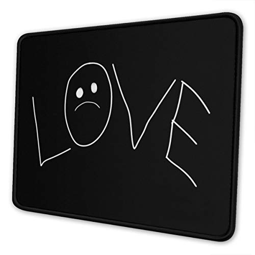 Love Lil Peep Mouse Pad Rubber Rectangular Mice Pads for Laptop and Desktop Computer