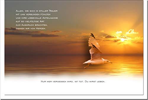 metALUm Danksagungskarten TRAUER   Möwe   10 Karten   1501043