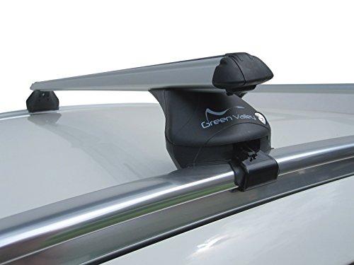 Barres de toit en aluminium pour Mercedes Classe C Break, modèles à partir de 2015 avec rails de toit