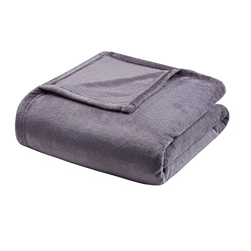 Madison Park Microlight Luxury Throw Blanket Premium Soft Cozy For Bed, Couch or Sofa, King, Lavender