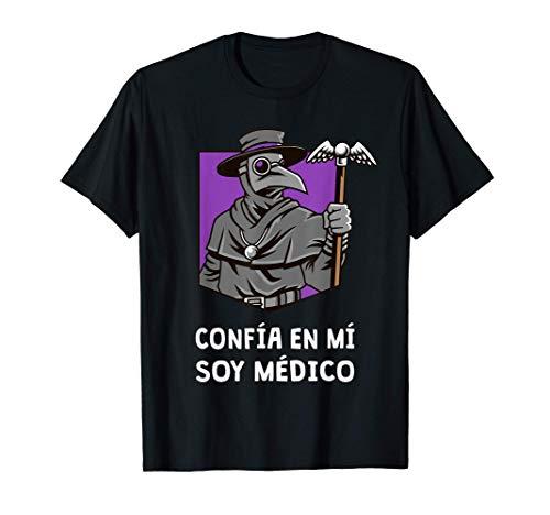 Doctor de la Plaga Peste Negra Mascara Disfraz Edad Media Camiseta