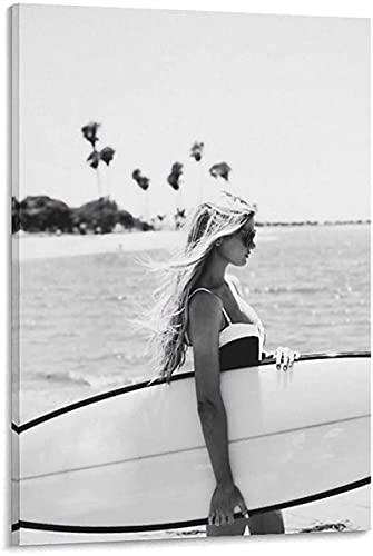 LYart Surfing Channel Islands Tema de Tabla de Surf Impresiones en Lienzo Carteles Impresión en HD Imágenes artísticas de Pared Sala de Estar Decoración para el hogar photo-40x60CM Sin Marco