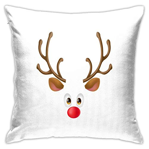 Christmas Reindeer Home Decorative Throw Pillow Covers for Sofa Couch Cushion Pillow Cases 18x18 Inch