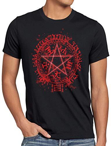 style3 Hellsing Pentagrama Camiseta para Hombre T-Shirt Vampiro Anime japón, Talla:XL