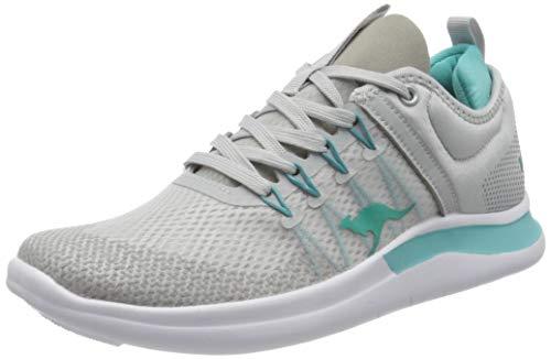 KangaROOS Women's Low-Top Sneakers, Grey Vapor Grey Turquoise 2035, 5 UK