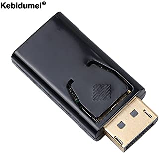 Kebidumei Display Port Male DP to HDMI Female Cable Converter Adapter for PC Notebook Laptop MacBook Projector