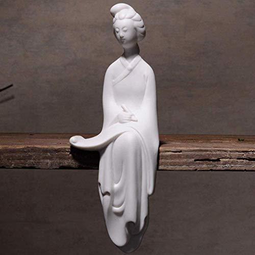 Figuras coleccionables Estatua de Figuras de cerámica para Dama, Escultura de Piano/ajedrez/Libro/Pintura, Adornos de Mesa para el hogar de Estilo Chino Moderno Simple, A, Color: D (Color: D)