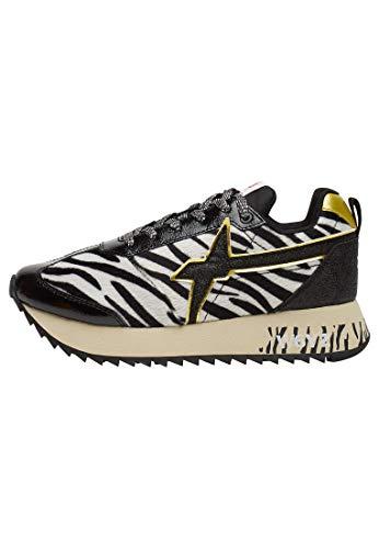 w6yz Sneaker KIS-W Lacca/Dier/Glitter Nero/Leopardato