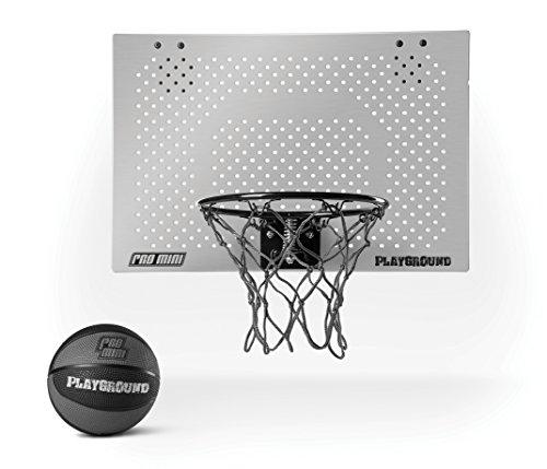 SKLZ PRO Mini Playground Set Basket Tabellone, Cerchio e Rete, Grigio
