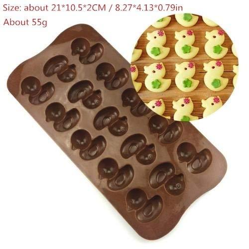 ADSIKOOJF Siliconen Mould Chocolade Taartvorm DIY 3D Bakgereedschap Taartdecoratie Hand Maken Pudding Jelly Ice Modle Keuken Accessoire