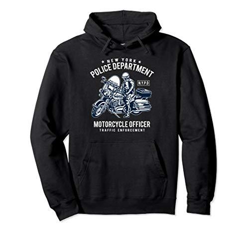 NYPD Fan Design - Motorradfahrer und Biker Pullover Hoodie