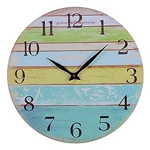 41Bi6OYdEcL._SS300_ Coastal Wall Clocks & Beach Wall Clocks