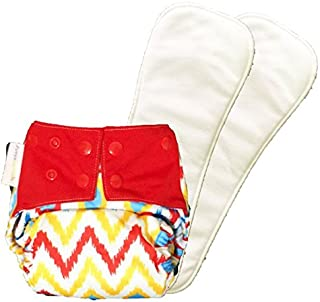 superbottoms Reusable Cloth Diaper - Cover Diaper with 2 Dry-Feel Soakers (Inserts)