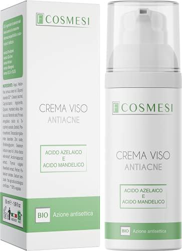 Crema Antiacne BIO CERTIFICATA da 50ml combatte la formazione di brufoli e punti neri, specifica per pelli acneiche, miste e grasse 100% Made in Italy
