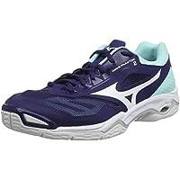 Mizuno Wave Phantom 2, Zapatillas de Balonmano para Mujer, Púrpura Astral Aura Blanco Azul Ligero 15, 42.5 EU
