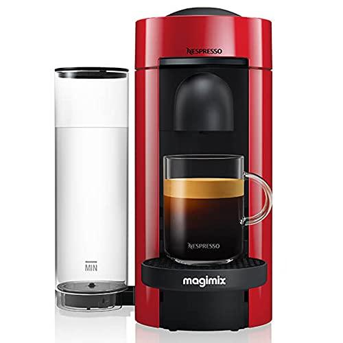 Nespresso Magimix 11389 Vertuo Plus Special Edition Red Kaffeekapselmaschine - 3 Monate Kaffee und ein Aeroccino