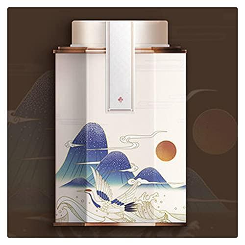 SKREOJF Exquisito Caja de té de té de la Caja de té con la Tapa de Sellado Interno y la Bolsa de Regalo Adecuada para el té del Caramelo del té del té de la Taza de café (Color : White)