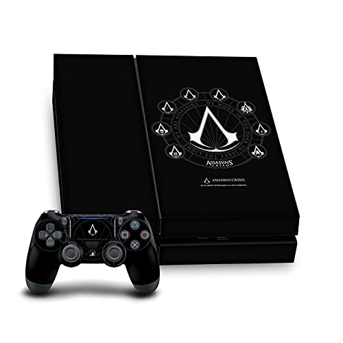 Head Case Designs Officially Licensed Assassin's Creed Crests Legacy Logo Vinyl Sticker Skin Decal Cover Compatible with Sony PS4 Console and Controller Bundle