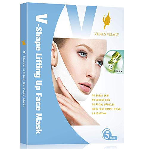 Double Chin Reducer V Line Lifting Mask Chin Up Patch Neck Lift Tape...