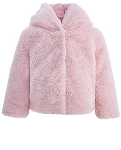 GULLIVER Kinder Baby Mädchen Jacke aus Pelz Pelzjacke Kunstfell Plüschjacke Farbe Rosa Pink Langarm Lang für Winter, Rosa, Gr.- 92 cm ( 24 Monate )