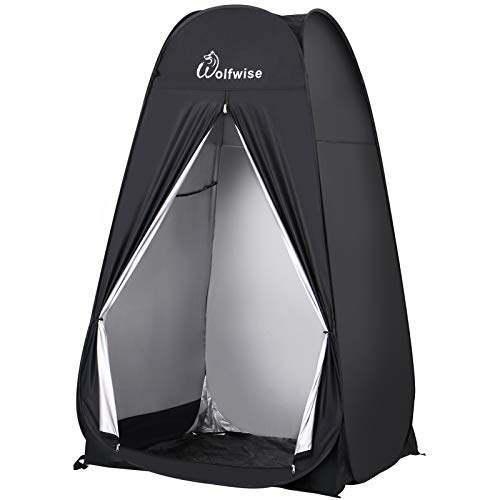 WolfWise 6.6FT Portable Pop Up Shower Privacy Tent Spacious Dressing Changing Room for Toilet...