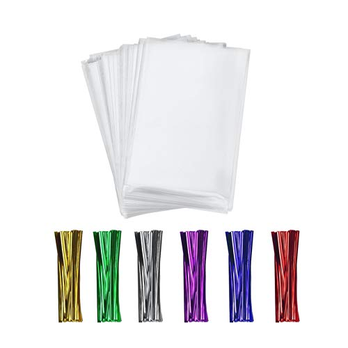 400 Clear Treat Cello Bags and Ties 3x4 for Lollipop Cake Pop Candy Buffet Chocolate Cookie Wedding Supply (3'' x 4'')