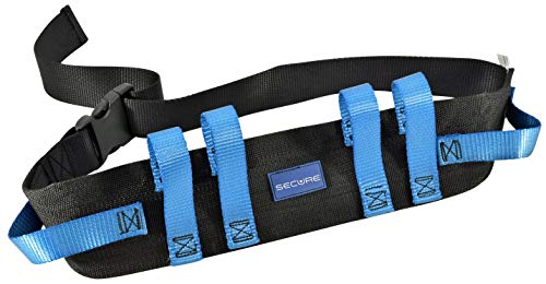 Secure Gait Belt with 6 Caregiver Handles and Quick Release Buckle - Transfer and Walking Elderly...