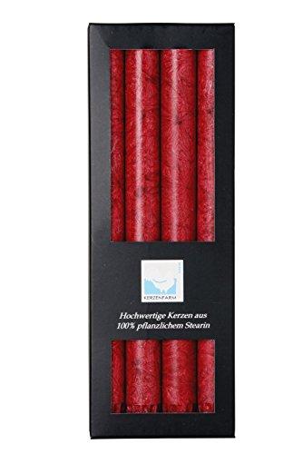 Kerzerman Stumpenkerzen, zylindrisch, Rot, 1