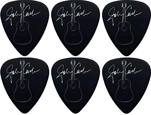 Axman Johnny Cash Black Acoustic D-35 - Púas para guitarra y llavero (6 púas)