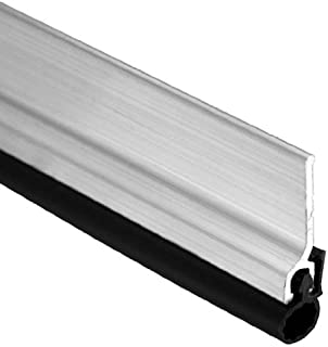 """Pemko Door Jamb Weatherstrip Kit with Screws, Mill Finish Aluminum with Black Silicone Insert, 7/8""""W x 3684"""