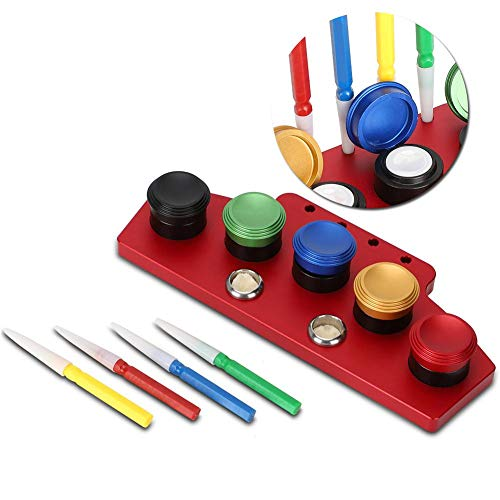 Metal Watch Oiler Kit, 5 Oil Cup and 4 Oil Pen Watchmaker Repair Tool Watch Oil Dip Tool Watch Repairing Accessory for Cleaning, Sewing Machines, Bike Derailers, Penetrating Oils(02#)