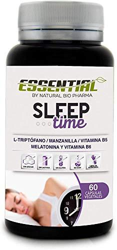 Melatonina Pura, Triptófano, Manzanilla y Vitaminas B5 y B6 | Conciliación rápida del Sueño, Elimina el Insomnio y Mejora el descanso | Efecto rápido en 30 minutos duraderos hasta 8 horas | 60U.