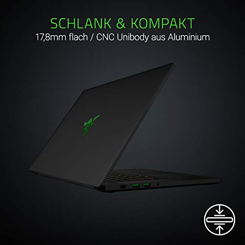 Razer Blade 15 Advanced Model (2019) 39,6 cm (15,6 Zoll 144 Hz Full HD Thin Bezel Display) Notebook (NVIDIA RTX 2070 with MAX-Q design, Intel Core I7-8750H, 16GB RAM, 256GB SSD, Windows 10)