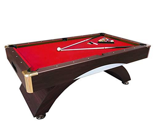 Mesa de Billar Juegos de Billar Pool Carambola Medición de 188 x 94 cm Nuevo 7 ft NAPOLEONE Rojo