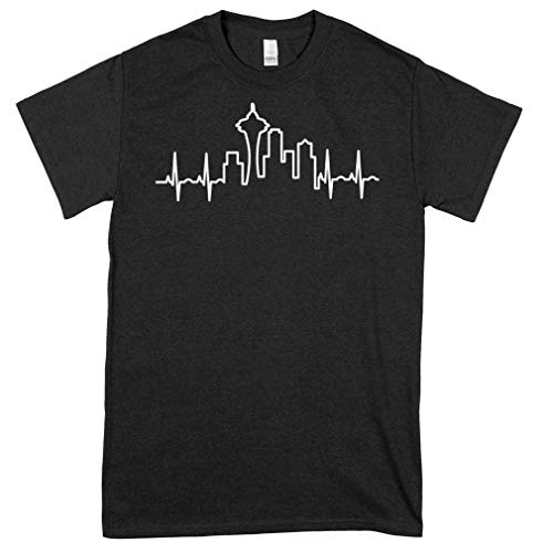 Skyline Heartbeat Seattle T Shirthellip Classic Guys Unisex Tee Fun Shirt For Women Men Graphic Tees Cool Tees Girls