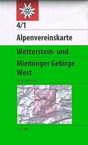 Wetterstein und Mieminger Gebirge, West: Wegmarkierung (Alpenvereinskarten)