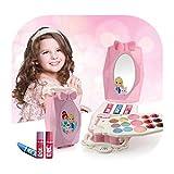 SOWLFE Juego de Maquillaje para niños y niñas - Juego de Maquillaje para Juegos de cosméticos para niños, niñas pequeñas, Juguetes de Princesa para niñas de 2 3 4 5 6 años de Edad