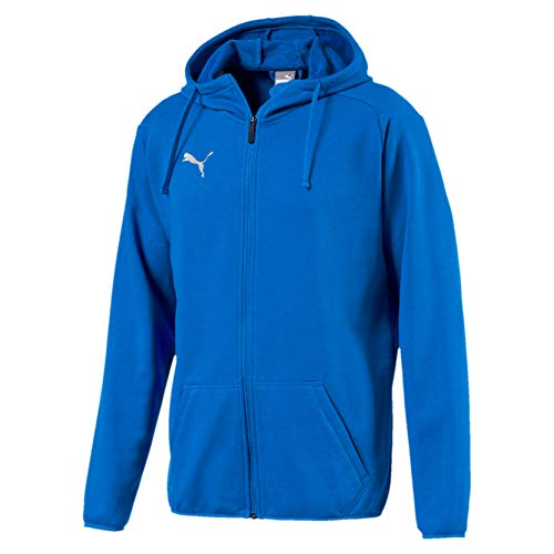 Puma Herren Liga Casuals Hoody Jacket Jacke, Blau (Electric Blue Lemonade-Puma White), XL