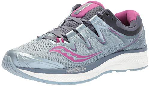 Saucony Women's Triumph ISO 4 Running Shoe, Fog/Grey, 6.5 Medium US