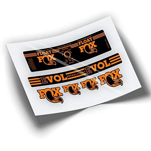 Pegatinas Amortiguador Fox Float Performance Series EVOL BTT MTB Bike Vinilo Vinyl (Naranja)