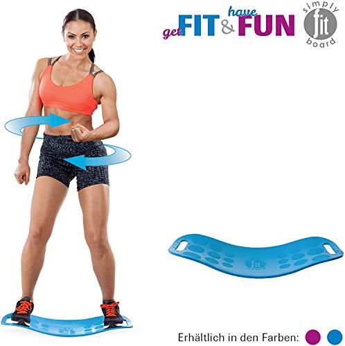 Mediashop Simply Fit Board | Fitnessgerät | Balance Board | Fitness | Twist-Board | verbessertes Gleichgewicht, Koordination, Stabilität | Das Original aus dem TV (blau)