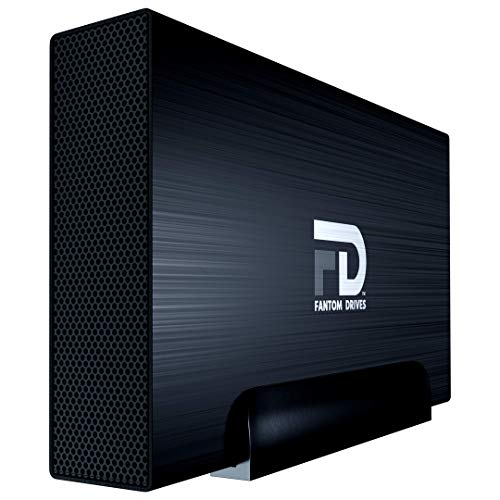 Fantom Drives FD 18TB 7200RPM External Hard Drive - GFORCE Pro - USB 3.2 Gen 1 5Gb/s - Read/Write Speeds up to 250MB/s - Black (GF3B18000UP)