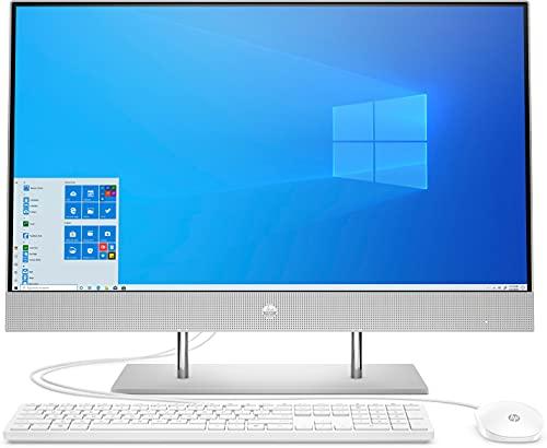 HP 27-dp1008ng (27 Zoll / UHD) All-in-One PC (AMD Ryzen 7 4700U, 8GB DDR4 RAM, 512GB SSD, AMD Grafik, Windows 10, QWERTZ) silber