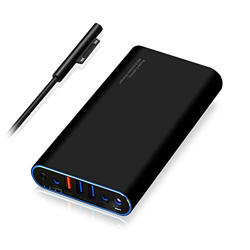 PoderCamino 98Wh Carry on MS Portable Charger Power Bank External Battery for Microsoft Surface Book Surface Laptop Surface Pro 6 5 4 3 2 RT USB QC Quick Charge Fast Charging tablet smartphone -SB2680